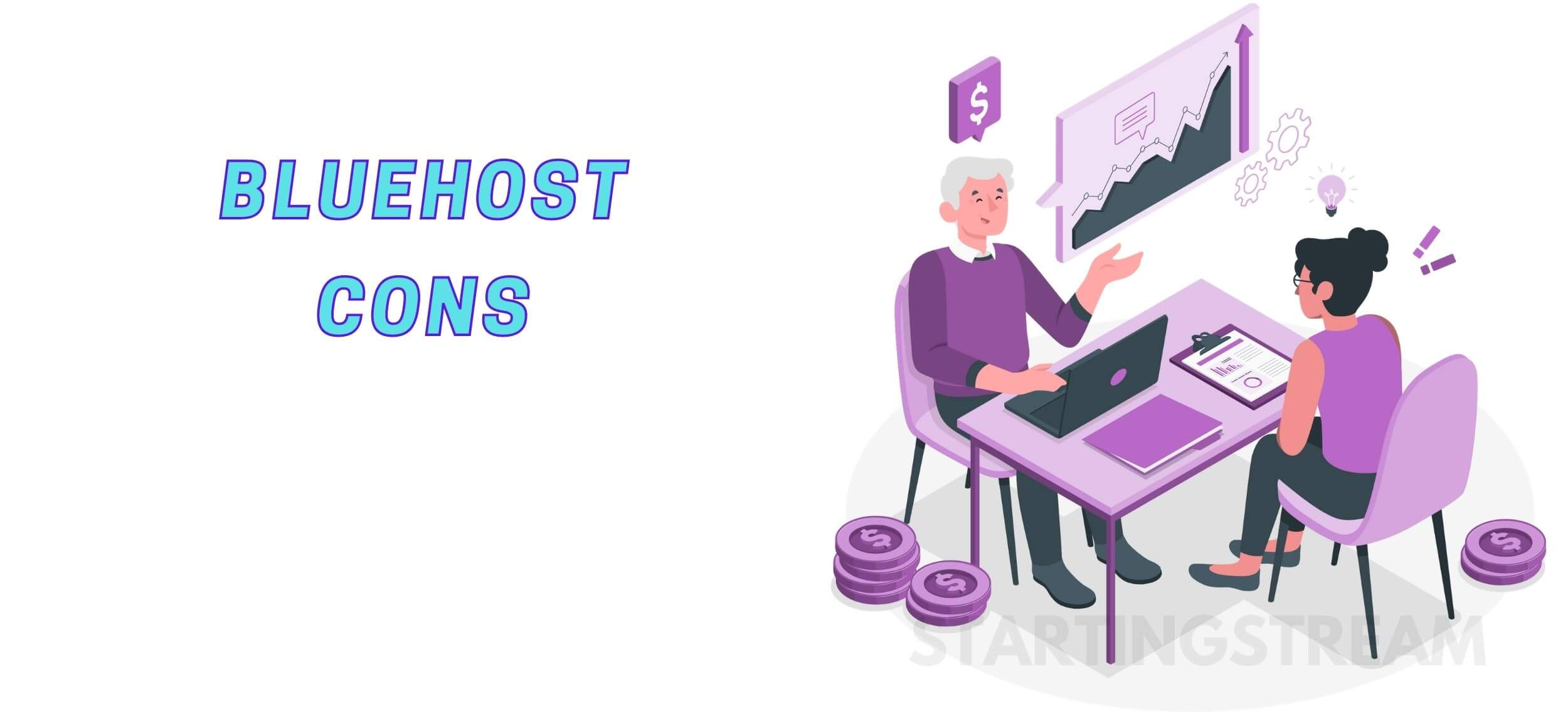 Bluehost cons